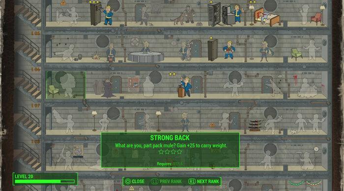 Strong Back Perk Fallout 4